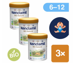 3x BIO pokračovacie mlieko 800 g DHA+ Kendamil Nature 2