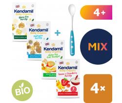 4x kaša Kendamil Organic Bio mix + lyžička Nuk zadarmo