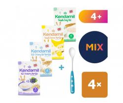 4x dojčenské kaša 100 g Kendamil + Lyžička Nuk zadarmo