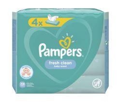 4x Vlhčené obrúsky Pampers Fresh Clean 52 ks