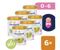 6x BIO plnotučné dojčenské mlieko 800 g DHA+ Kendamil Organic 1
