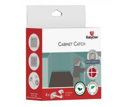 Poistka pre dvere zásuviek a skríň 4 ks Baby Dan Cabinet Catch, BIO