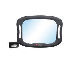 Nastaviteľné spätné zrkadlo do auta s LED osvetlením Baby Dan
