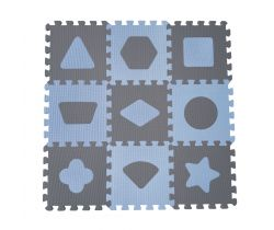 Hracia podložka puzzle 90x90 cm Baby Dan Geometrické tvary
