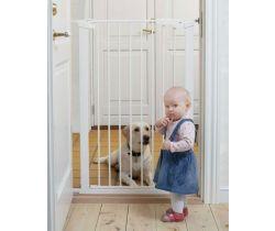 Vysoká zábrana 73-86 cm biela BabyDan Premier PET GATE