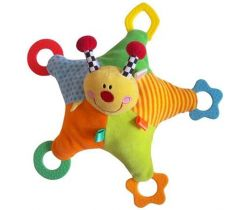 BabyMix Lienka prítuľník s hrkalkou a hrýzatkami