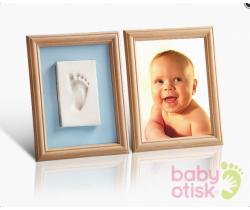 Baby Otisk sada pre odtlačok s farebnými paspartami ružovo-modrá