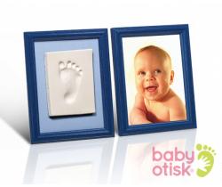 Baby Otisk sada pre odtlačok s farebnými rámečkmi-modrá