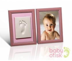 Baby Otisk sada pre odtlačok s farebnými rámečkmi-ružová