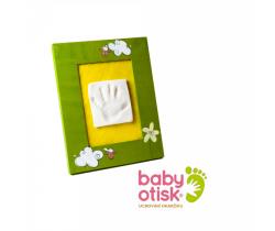 Baby Otisk sada pre odtlačok s ručne maľovaným rámčekom-zelená