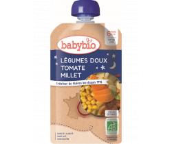 Babybio Doypack pyré sladká zelenina s paradajkami a s prosom 120g