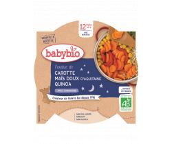 Babybio Good Night menu mrkva a sladká kukurica s quinoa 230g