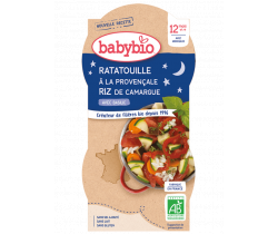 Babybio Good Night menu ratatouille po prevensálsku s rýžou 2 x 200g