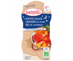 Babybio Good Night menu sladké zemiaky s letnou zeleninou 2 x 200g