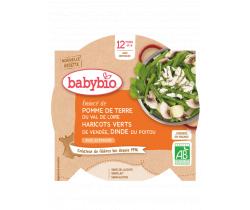 Babybio menu zemiaky a fazoľky s morčiacími plátkami 230g