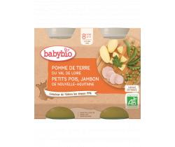 Babybio menu zemiaky a hrášok so šunkou 2 x 200g