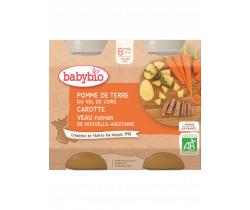 Babybio menu zemiaky a mrkva s teľacím mäsom 2 x 200g