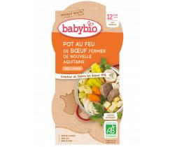 Babybio menu dusené hovädzie mäso so zeleninou 2 x 200g