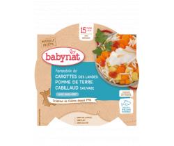 Babybio menu mrkva a zemiaky s treskou 260g
