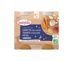 Babybio menu mrkva a rajčata s cestovinami 2 x 200g