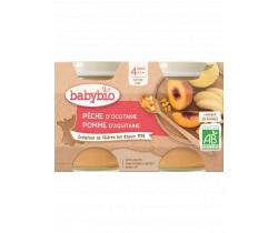 Babybio ovocný príkrm broskyňa, jablko 2 x 130g