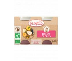 Babybio ovocný príkrm ovocná zmes 2 x 130g