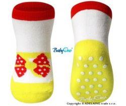 BabyOno 589/03 bavlnené protišmykové ponožky 6m+