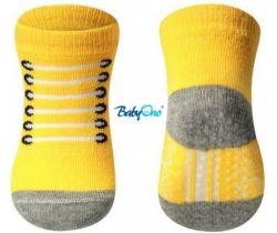 BabyOno bavlnené protišmykové ponožky 0+ 587/02