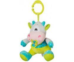 BabyOno Kravička hrajúca hračka s klipom