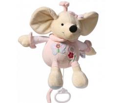 BabyOno Myška hudobná plyšová hračka s klipom
