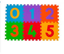 BabyOno penové puzzle čísla 6 ks Nr. Kat. 275