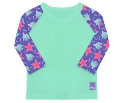 Detské tričko do vody s rukávom UV 50+ Bambino Mio Violet
