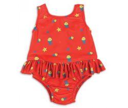 Bambino Mio dievčenské plavky vcelku Red fish