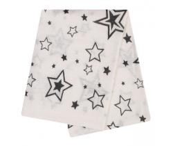 Bambusová plienka 90x90 cm LittleUp Grey Stars