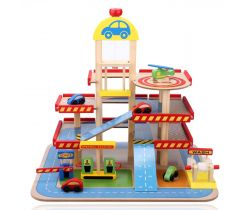 Farebná garáž Wooden Toys