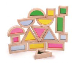 Farebné tvary senzorické Bigjigs Toys Prírodné