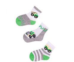 Bavlnené ponožky 3 ks Yo Green Builder
