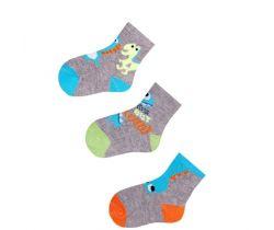 Bavlnené ponožky 3 ks Yo Grey Monster