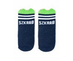 Bavlnené ponožky YO s uškami Baby Dark Blue