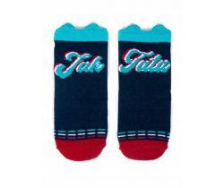 Bavlnené ponožky YO s uškami Like Dad Blue