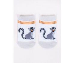 Bavlnené ponožky YO White Lemur