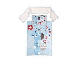 Bavlnené obliečky do postieľky Baby Matex Happy Blue Giraffe
