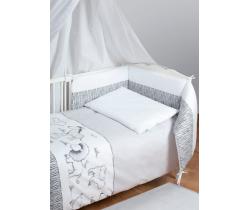 Bavlnené obliečky do postieľky Baby Matex Bianco Safari