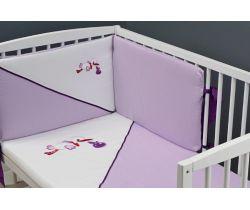 Bavlnené obliečky do postieľky Glück Stork Purple