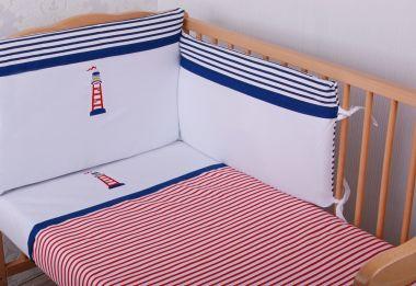 Bavlnené obliečky do postieľky s aplikáciou Glück Lucernička modrá