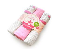 Bavlnené tetra plienky s potlačou 3 ks Bobas Sweet Sheep Pink
