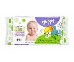 Bella Baby Happy čistiace obrúsky hodváb a bavlna 64 ks