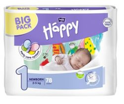 Plienky Bella Baby Happy Newborn 1 (2-5 kg) 78 ks