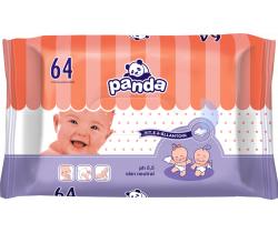 Bella Baby Panda vlhčené obrúsky 64 ks