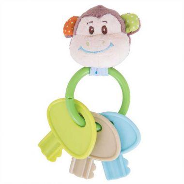 Hrkálka krúžok s kľúčmi Bigjigs Baby Opička Cheeky